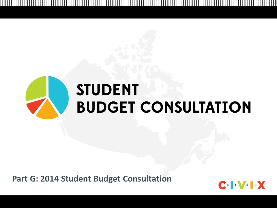 Click to edit Master title style Click to edit Master text styles –Second level Third level –Fourth level »Fifth level Part G: 2014 Student Budget Consultation