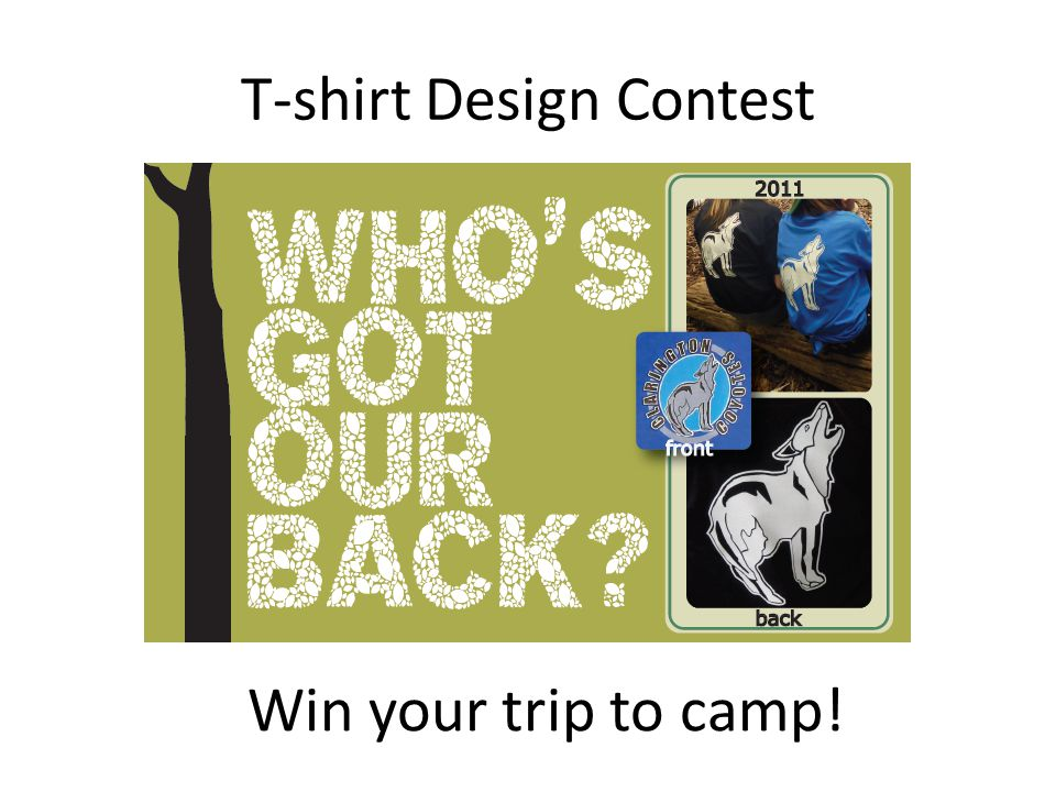 T-shirt Design Contest Win your trip to camp!