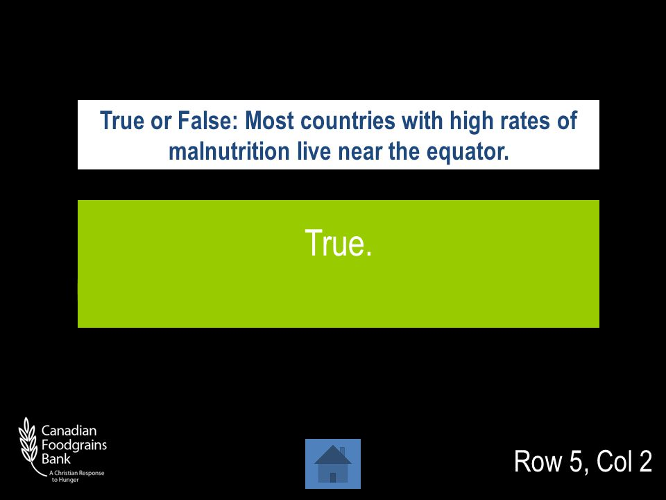 Row 5, Col 1 South Africa Which of these countries does not have a very high rate of undernourishment .