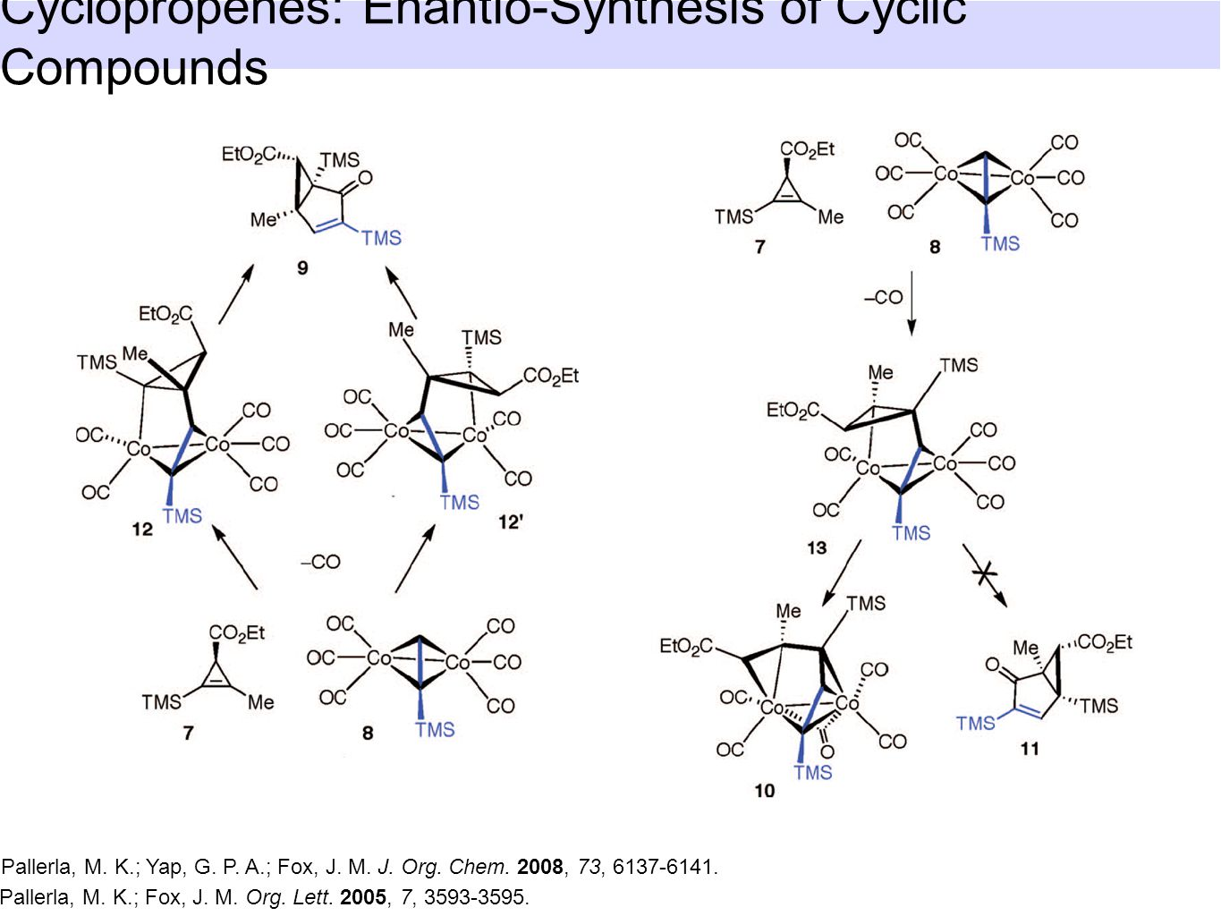 Cyclopropenes: Enantio-Synthesis of Cyclic Compounds Pallerla, M.