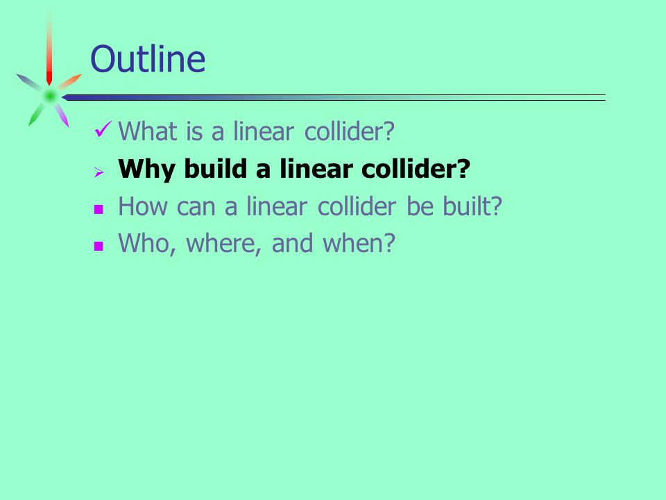 August 2001Dean Karlen / Carleton University5 why linear $ circular colliders linear colliders