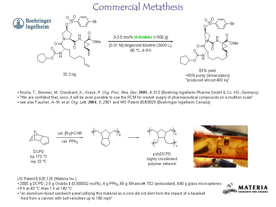 Commercial Metathesis