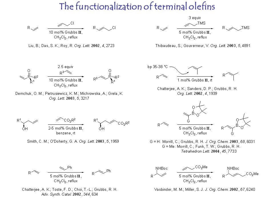 The functionalization of terminal olefins