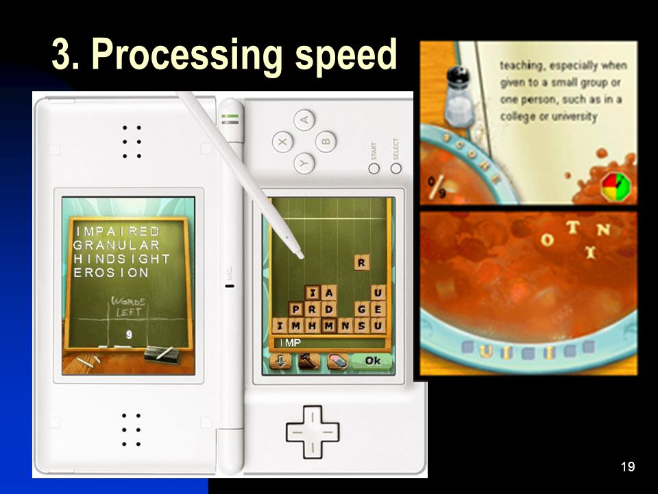 19 3. Processing speed