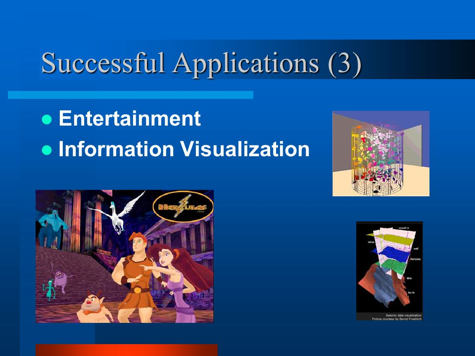 Successful Applications (3) Entertainment Information Visualization