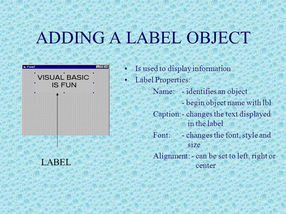 VISUAL BASIC Visual Basic is derived from the Basic language