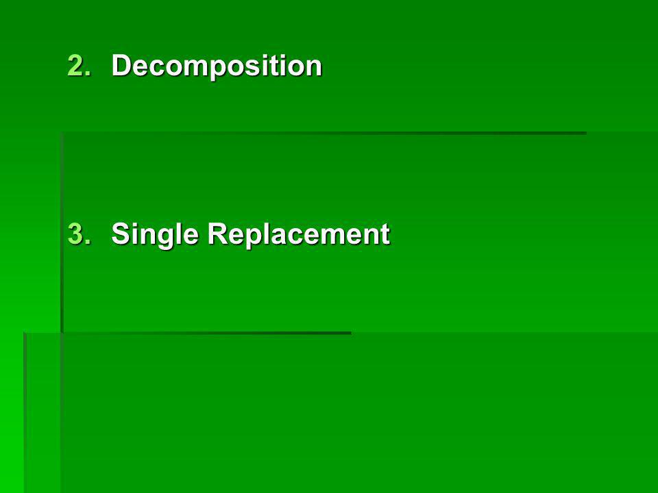 2.Decomposition 3.Single Replacement