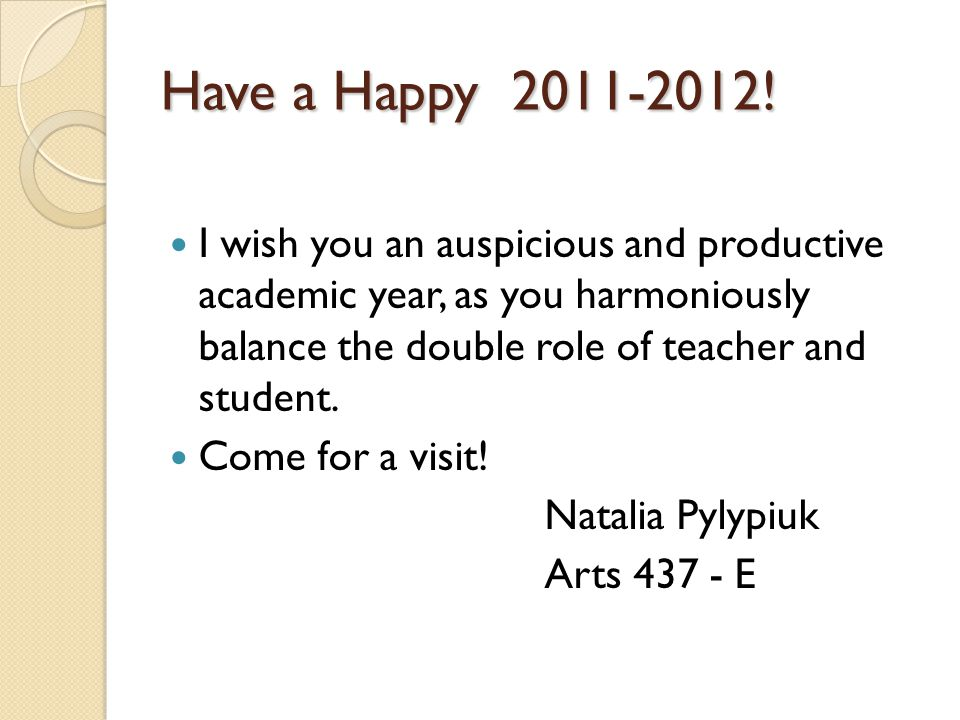 Have a Happy 2011-2012.