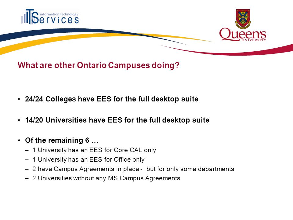 What are other Ontario Campuses doing.