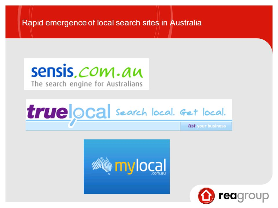 Rapid emergence of local search sites in Australia