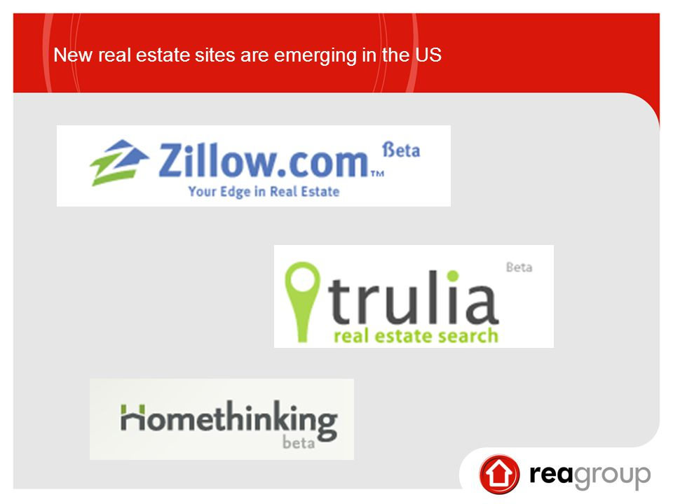 New real estate sites are emerging in the US