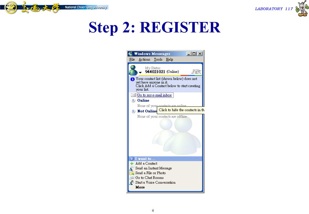1 TAC2000/ LABORATORY 117 Windows-based SIP UA  Microsoft