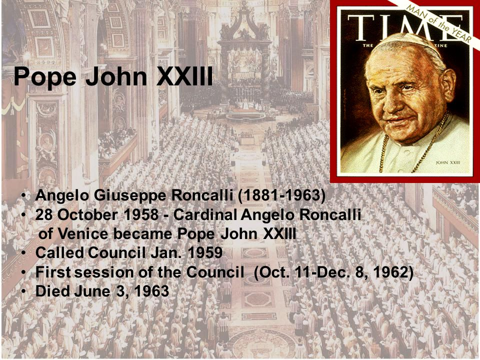 Vatican II: The Event and Its Message for Today. With the passing of the  years, the Council documents have lost nothing of their value and  brilliance. - ppt download