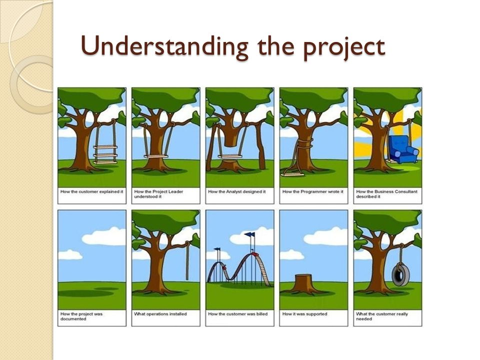 Understanding the project