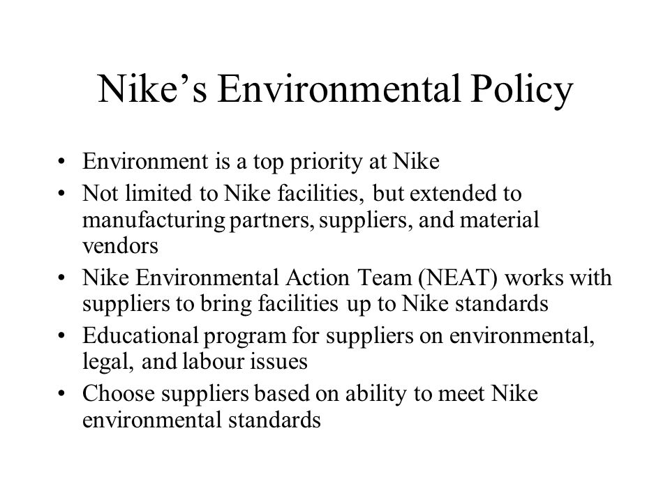 who are the suppliers for nike