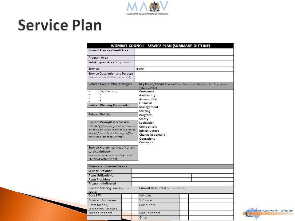 Define Services ◦ At strategic level ◦ Suggest no more