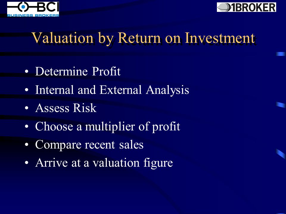 Valuation by Rule of Thumb Only based on Gross Revenue or other Inflexible Quick and easy Industry acceptance No reference to profit