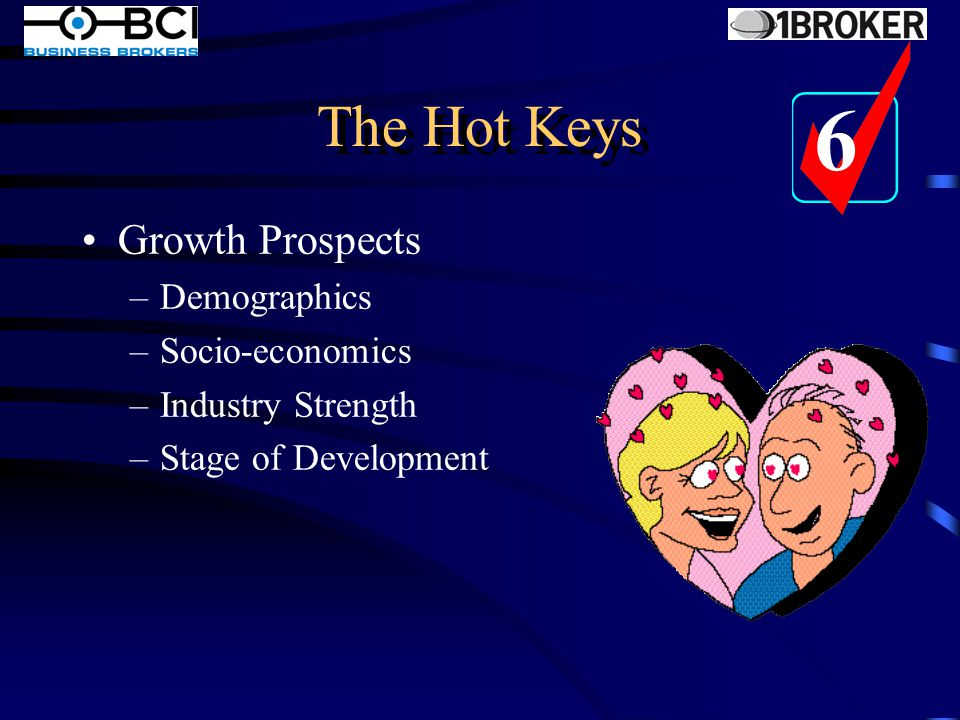The Hot Keys Strong Brand –Integrity and Values –Track Record –Public Relations –Consistency of Message –Emotion and Trust 5