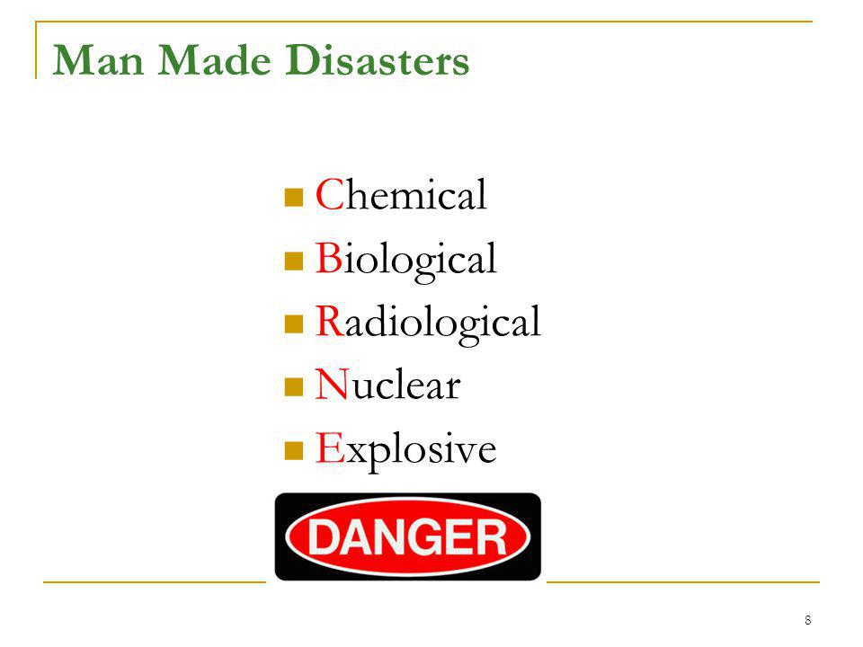 Man Made Disasters Chemical Biological Radiological Nuclear Explosive 8