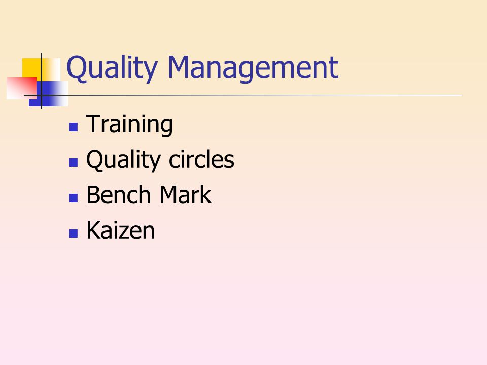Quality Management Training Quality circles Bench Mark Kaizen