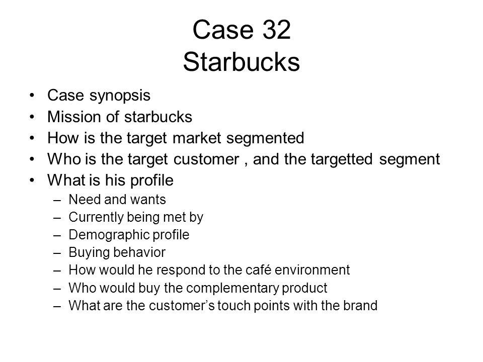 starbucks target customer profile