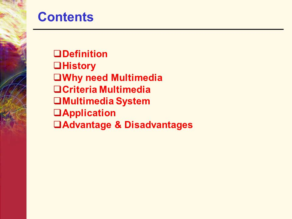 Chapter 1 : Introduction to Multimedia/Fundamental of