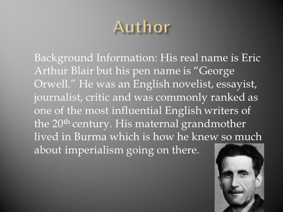 eric arthur blairs pen name