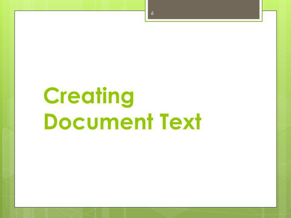 Creating Document Text 6
