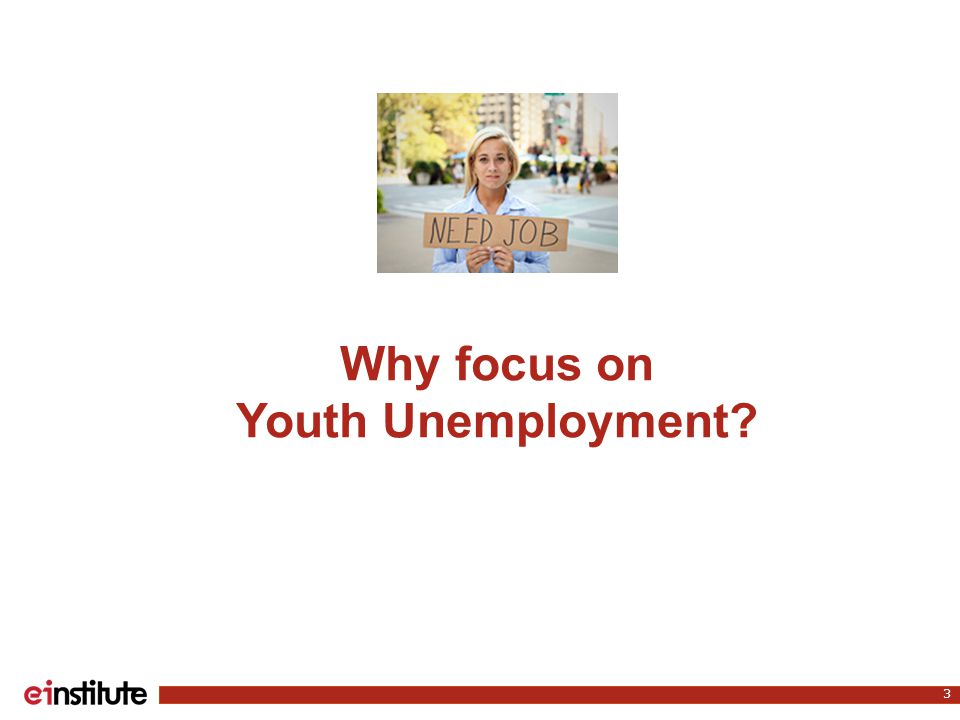Why focus on Youth Unemployment 3