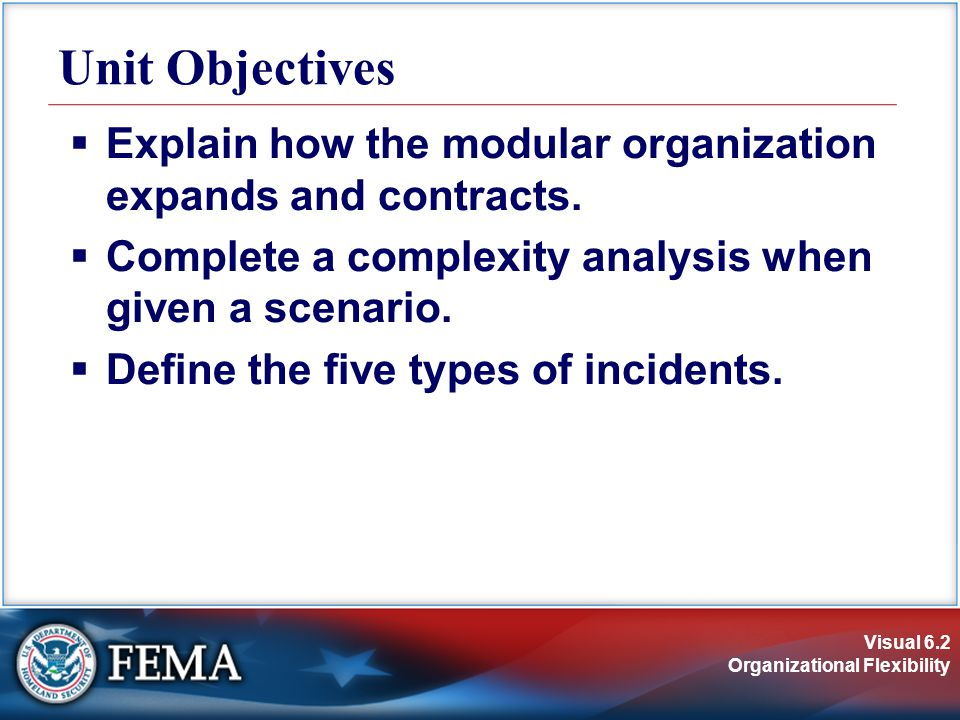 Visual 6.2 Organizational Flexibility  Explain how the modular organization expands and contracts.