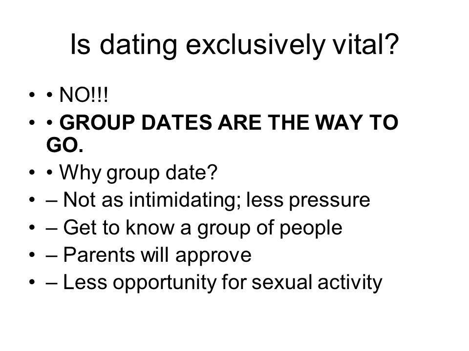 what is dating exclusively