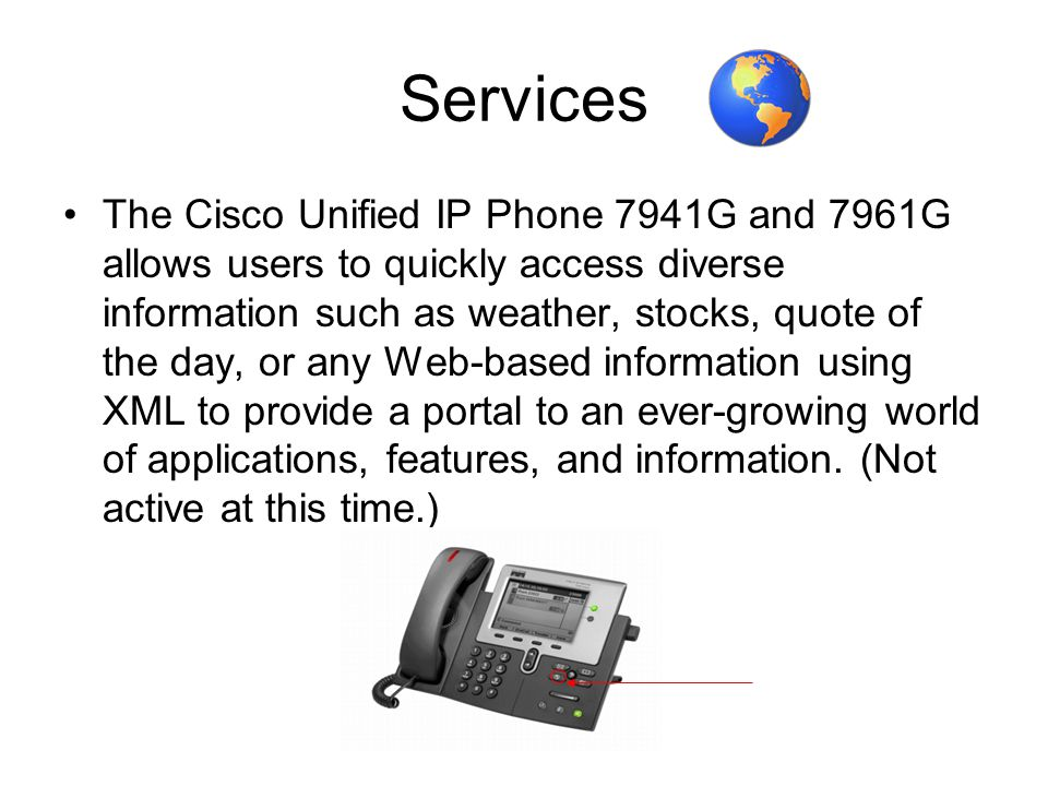 CISCO IP PHONE Series 7941 & Phone Screen Features Primary