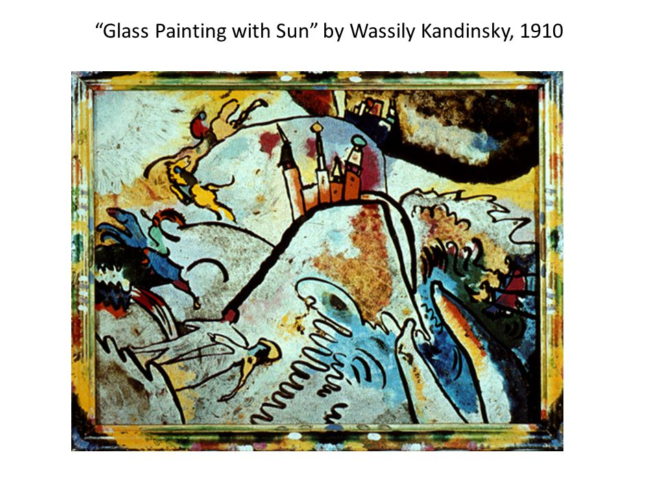 Glass Painting with Sun by Wassily Kandinsky, 1910