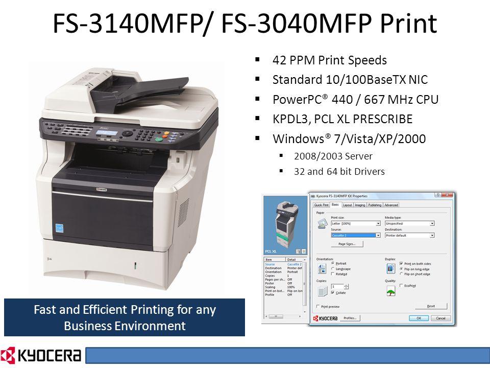 Kyocera ECOSYS FS-2100DN Printer NDPS Windows Vista 32-BIT