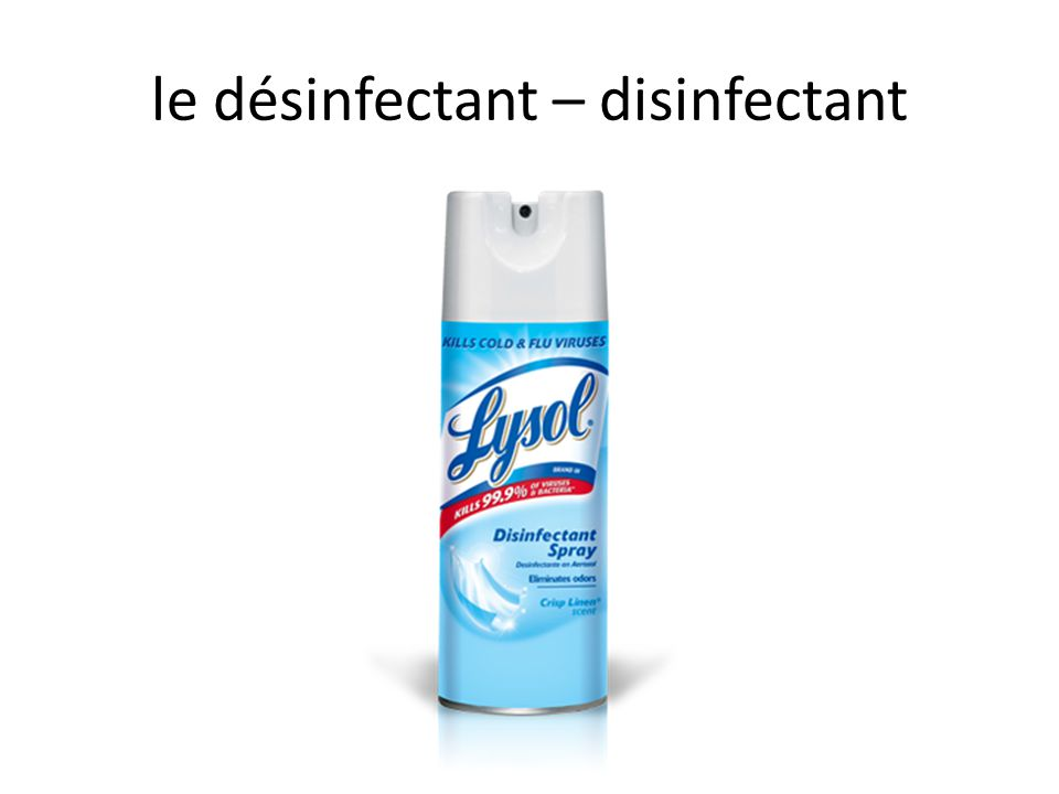 le désinfectant – disinfectant