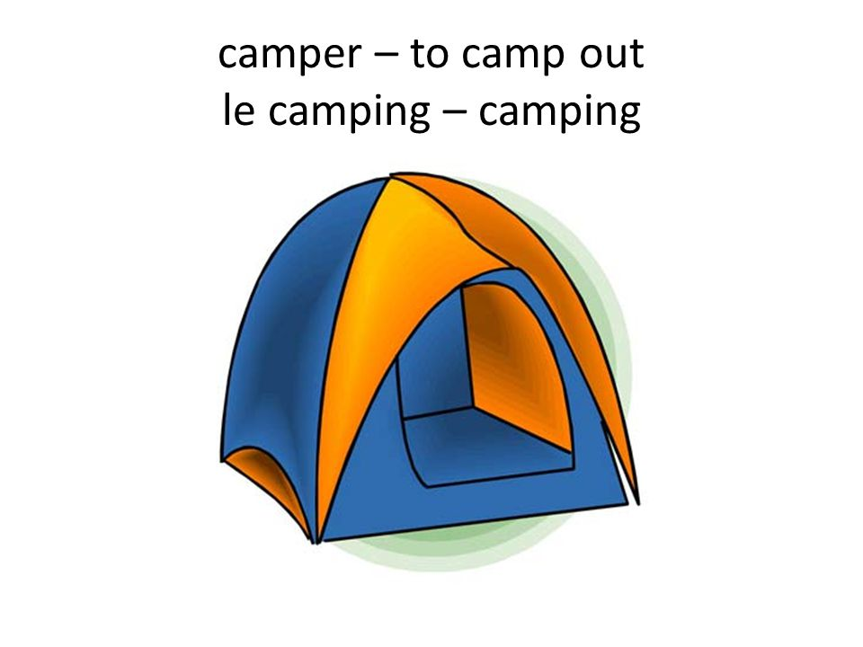 camper – to camp out le camping – camping