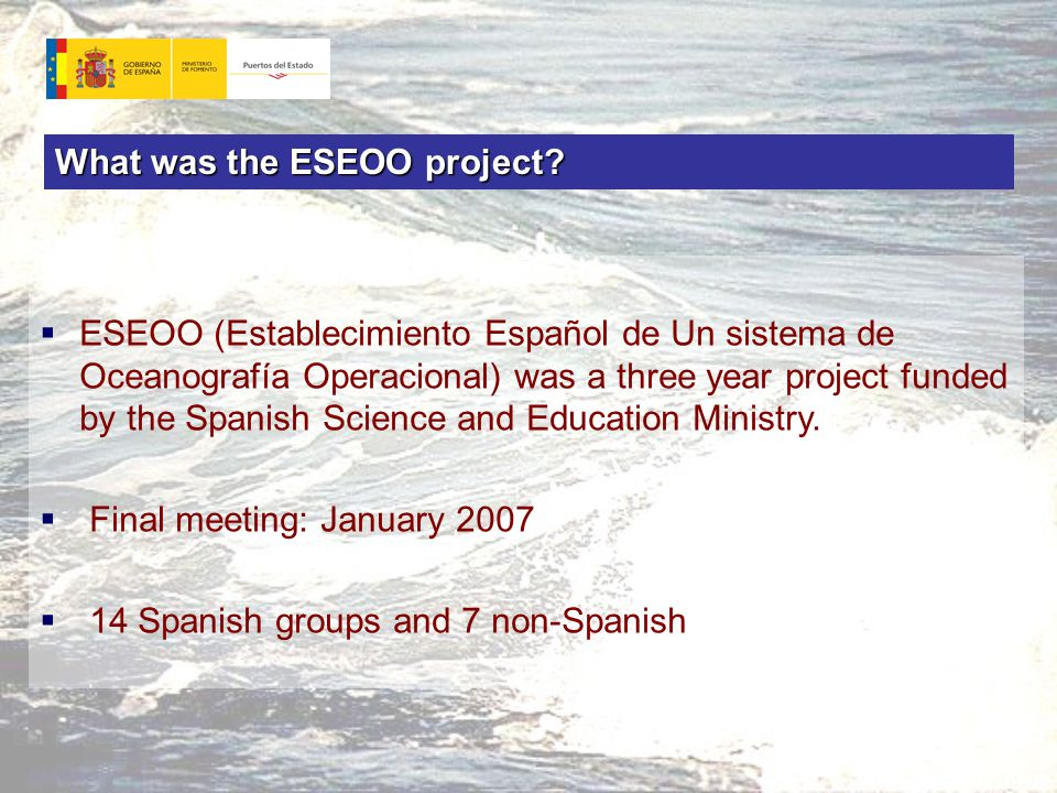 What was the ESEOO project.