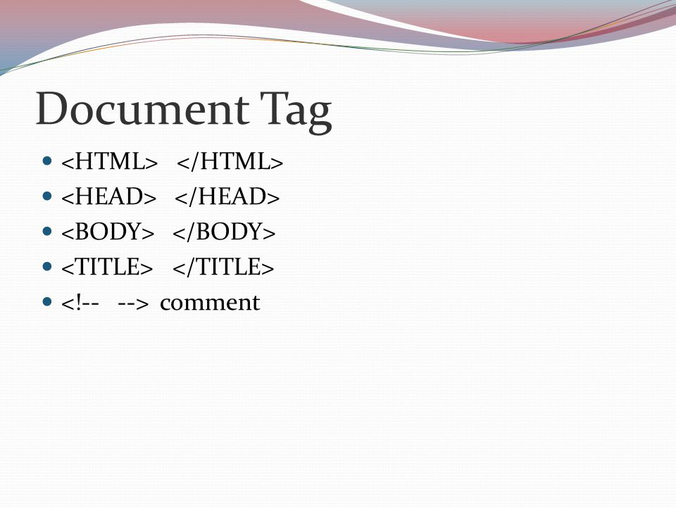 Document Tag comment