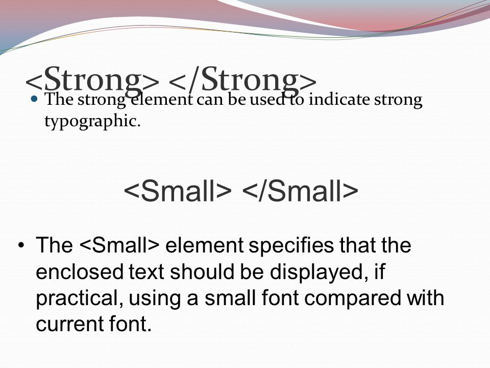 The strong element can be used to indicate strong typographic.