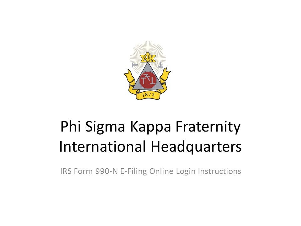 Phi Sigma Kappa Fraternity International Headquarters Irs Form 990 N
