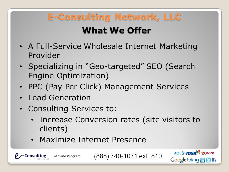 Search Engine Optimization and Pay Per Click Affiliate Program (888