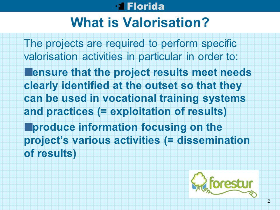 2 What is Valorisation.