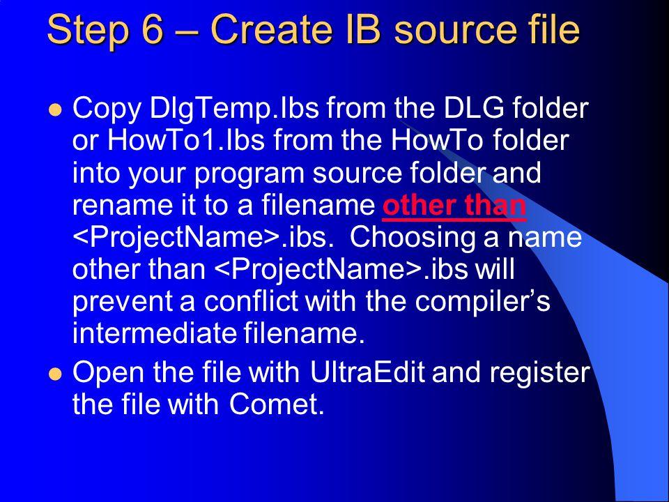 Creating a Dialog-Based Comet Windows Program Brian