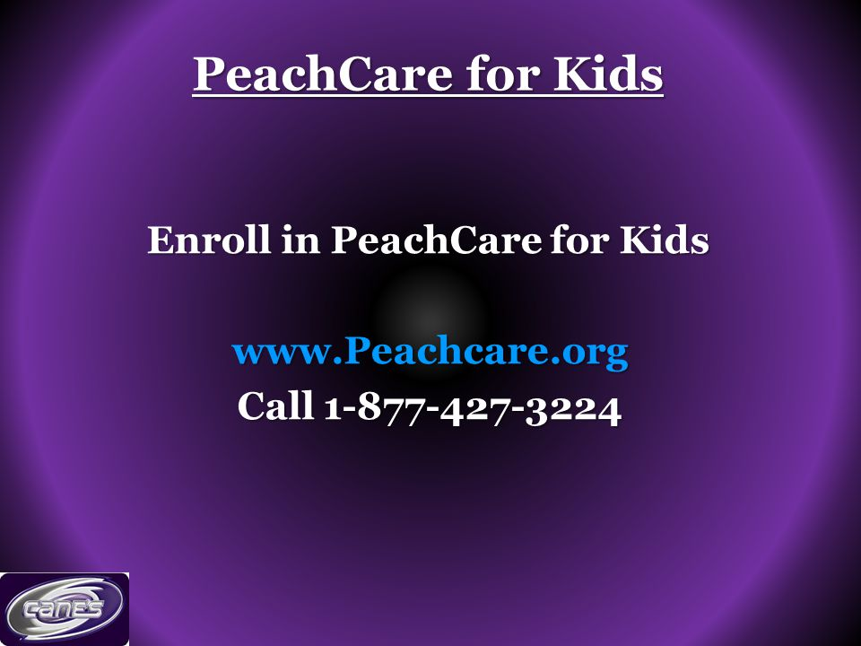 PeachCare for Kids Enroll in PeachCare for Kids   Call