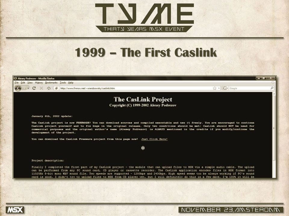 1999 – The First Caslink