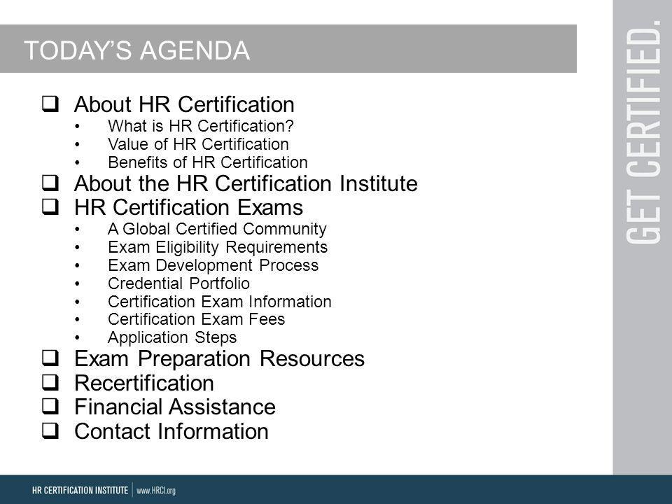 Advance Your Career With Hr Certifications Presented By Stephanie
