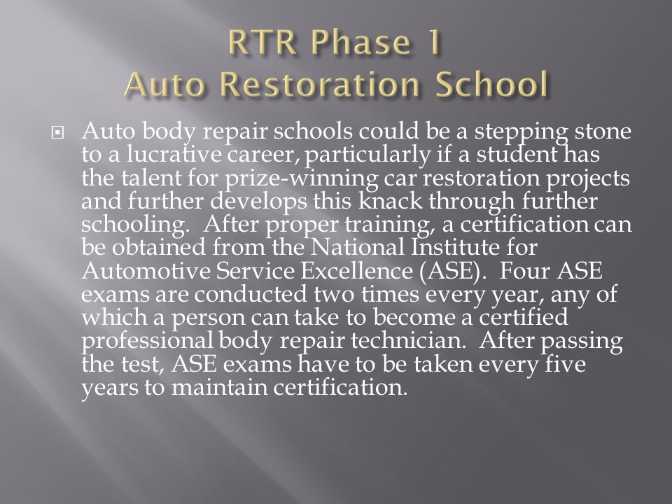 Auto Body Repair Schools Could Be A Stepping Stone To A Lucrative