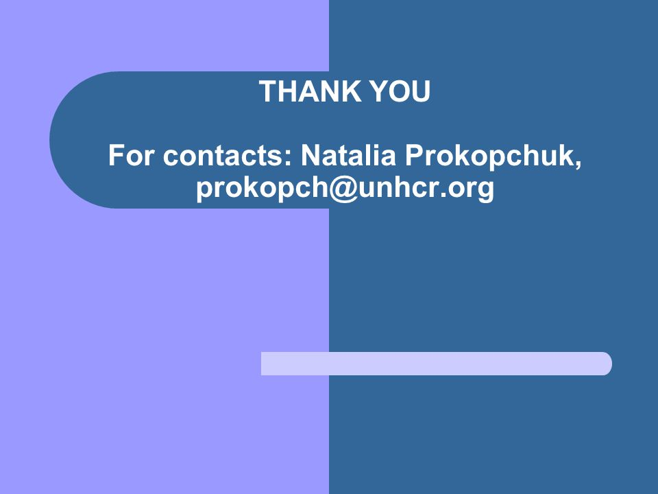 THANK YOU For contacts: Natalia Prokopchuk,