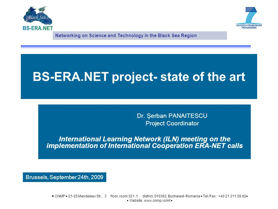 BS-ERA.NET project- state of the art Dr.