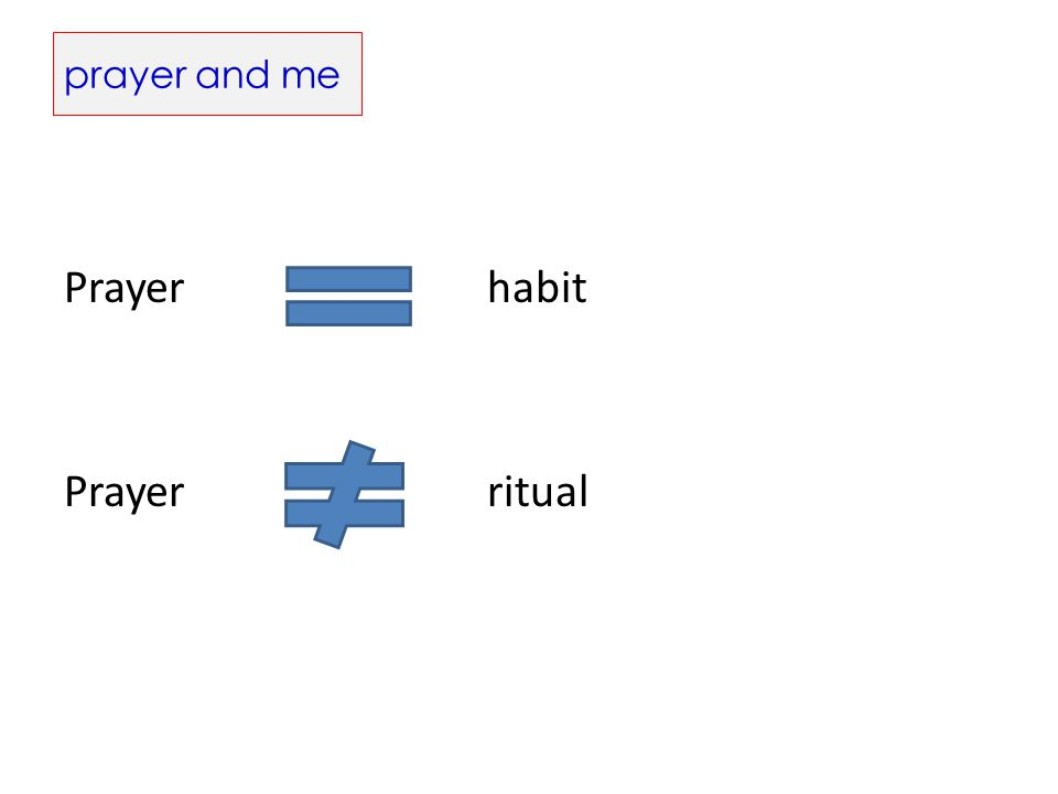 prayer and me Prayerhabit Prayerritual
